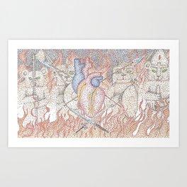 Heart of a warrior Art Print