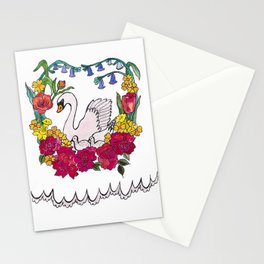 mumma swan Stationery Cards