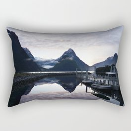 Sunset to die for at Milford Sound Rectangular Pillow