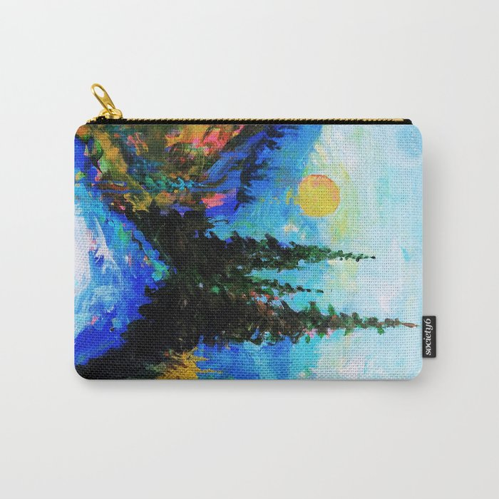 Mountain Blues Painting Carry-All Pouch