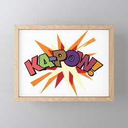 Comic Book Pop Art Sans KA-POW Framed Mini Art Print