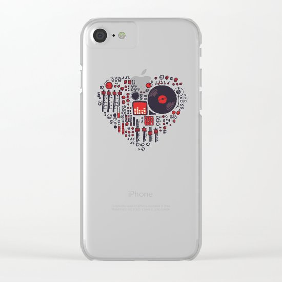Music in every heartbeat Clear iPhone Case
