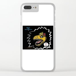 "SHMUT, The Valley-Girl Dinosaur: sez ""Like, Grr, Man Clear iPhone Case"