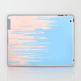 Carefree - Sweet Peach Coral Pink on Blue Raspberry Laptop & iPad Skin