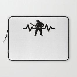Heartbeat Rock Star Playing Guitar Laptop Sleeve
