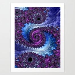 Feathery Flow - Fractal Art Art Print