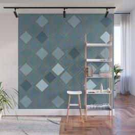 Blueprint Geometric Pattern 5 Wall Mural