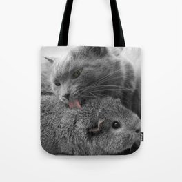 in our own weird way, we work. Tote Bag