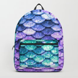 Mermaid Ombre Sparkle Teal Blue Purple Backpack
