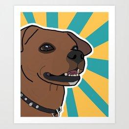 Wiggle Butt Art Print