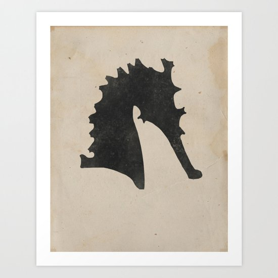 Silhouette (Victorian Seahorse) Art Print
