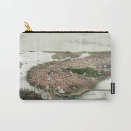 Boston - bird's eye view from the north - 1877 Carry-All Pouch