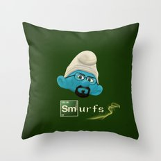 smurfing bad Throw Pillow