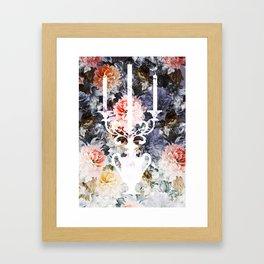 White Candlestick Framed Art Print