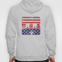 USA Patriotic Rubber Stamp Icon Hoody