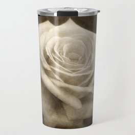 Pink Roses in Anzures 4 Antiqued Travel Mug