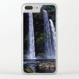 Peaceful Waimea Falls in Kauai, Hawaii Clear iPhone Case