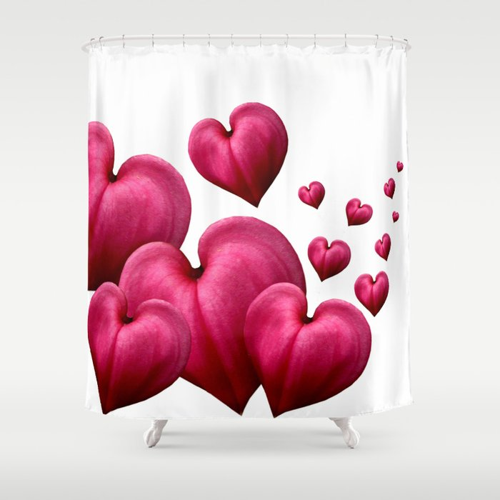 Dancing Hearts Shower Curtain