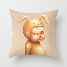 Bunny Kid Throw Pillow