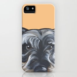 Peter the Schnauzer iPhone Case