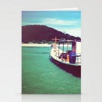 thailand Stationery Cards featuring Longboat, Thailand by istillshootfilm