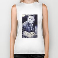 johnny depp Biker Tanks featuring Johnny Depp by Matteo Felloni Artista