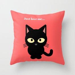 Cat, Cats - Love Cats Throw Pillow
