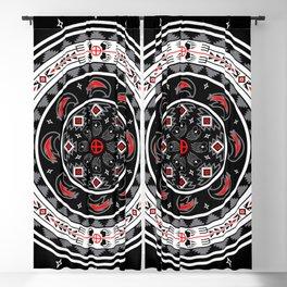 Bear Spirit (Black) Blackout Curtain