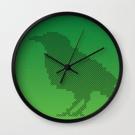 Crow cross stitches Wall Clock