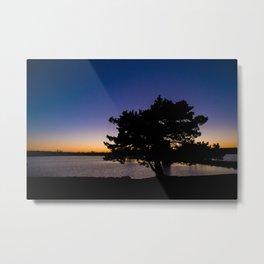 Silhouette Sunset Metal Print