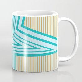 Geometric Blue Star Art Deco Coffee Mug
