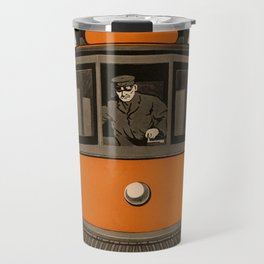 History of the Trolley car 1905 Travel Mug