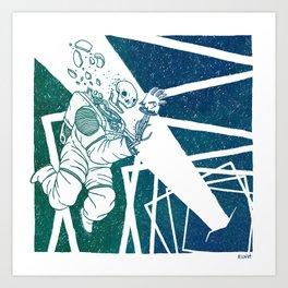 High-Concept Interstellar Journey Art Print