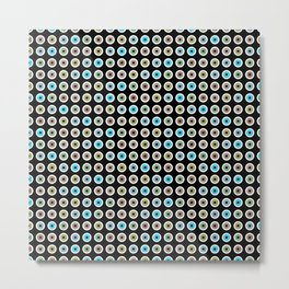 googly eyes pattern Metal Print