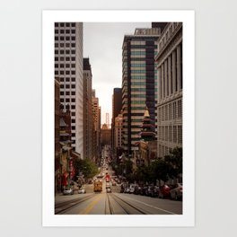 Lingering in San Francisco Art Print