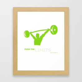 Push the Limits Be Victorious Framed Art Print