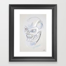 One line T800 Framed Art Print