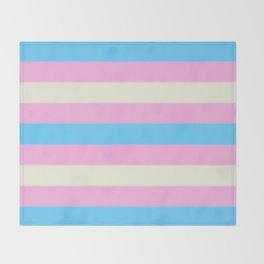 Transgender Pride Flag v2 Throw Blanket
