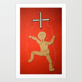 fear puppet Art Print