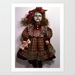 Little Miss Sarah Splatter Art Print