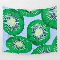 kiwi Wall Tapestries featuring Kiwi, 2014. by Tiffany Horan