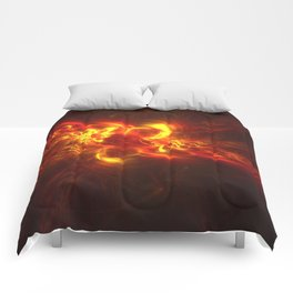 Fractal Flame Explosion Comforters