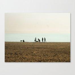 Pup Beach Canvas Print