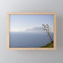 Capri Island From Punta Campanella, Italy Framed Mini Art Print