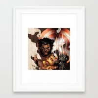 x men Framed Art Prints featuring X-MEN by Thorin