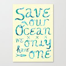 I heart ocean Canvas Print