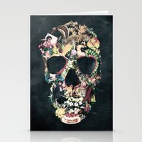ali Stationery Cards featuring Vintage Skull by Ali GULEC