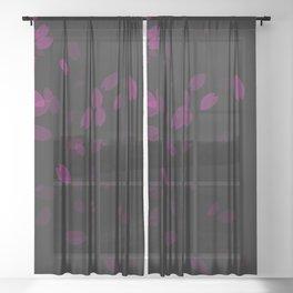 petal fade design Sheer Curtain