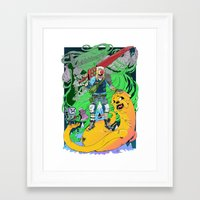 finn and jake Framed Art Prints featuring Finn & Jake by Rob S