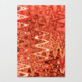 Waves Saffron Canvas Print
